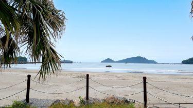 【大堂津海水浴場】人口岩が特徴的!島に囲まれ、波が穏やかな海水浴場