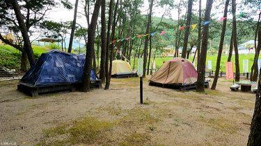 家族で初キャンプ!「浜木綿村」の常設テントに1泊してみた