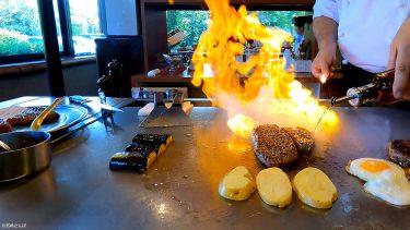 【一ッ葉ミヤチク】専属シェフが目の前で宮崎牛を焼いてくれる鉄板焼きステーキ店